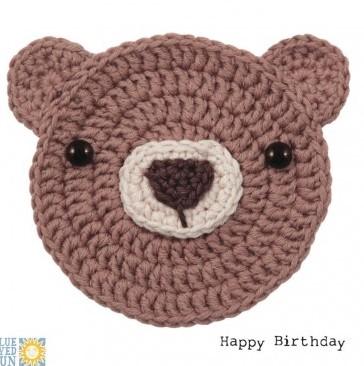 Barry Bear - Happy Birthday - crochet critters greeting card