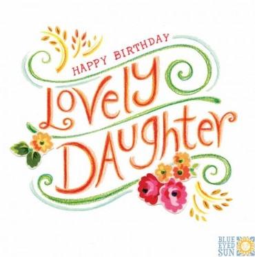 Happy Birthday Lovely Daughter - Tahiti greeting card