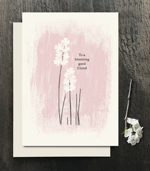 To a blooming good friend - greeting card - East of India