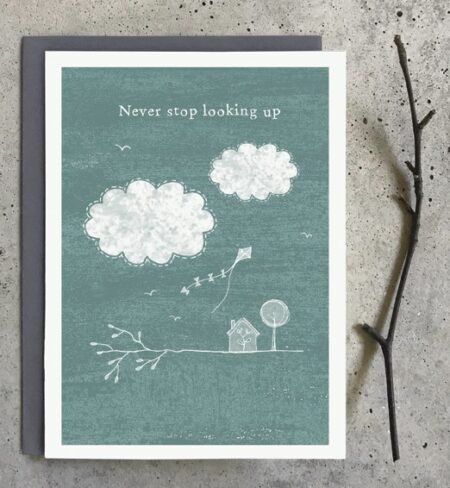 Never stop looking up - greeting card - East of India