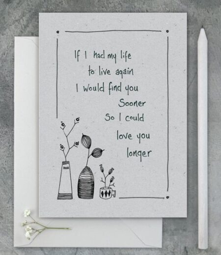 If I had my life again... - greeting card - East of India