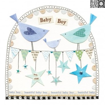 Baby Boy - fiesta greeting card