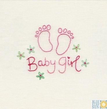 Baby Girl - pincushion greeting card
