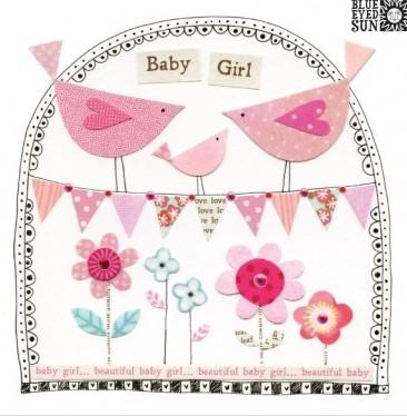 Baby Girl - fiesta greeting card