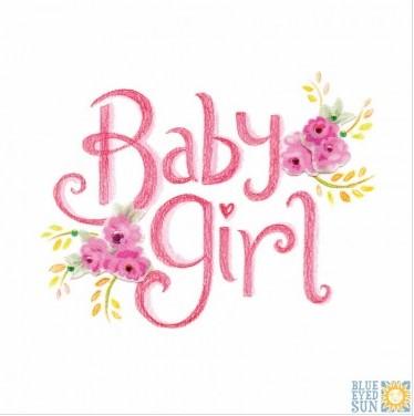 Baby girl - Tahiti greeting card