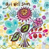 get well soon - Marimba greeting card