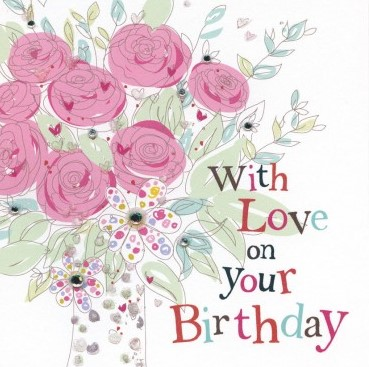 With love on your Birthday - fandango greeting card