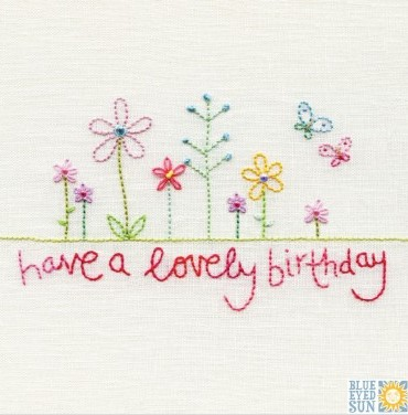 have a lovely birthday - pincushion greeting card (Copy)