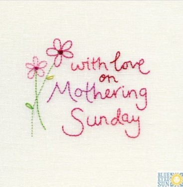 with love on Mothering Sunday - pincushion greeting card