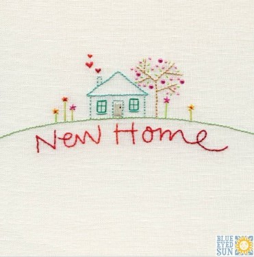 New Home - pincushion greeting card