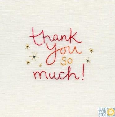 Thank you so much - pincushion greeting card